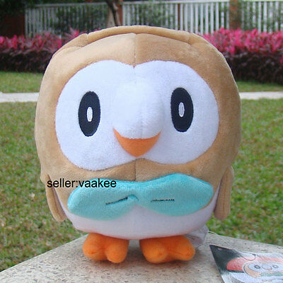 Pokemon Center Go Rowlet Plush Toy Pocket Monster Stuffed Animal Soft Doll 7.5""