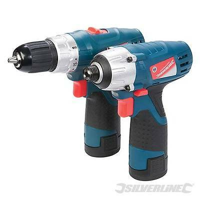 10.8V Drill Driver & Impact Twin Pack Li-Ion Battery X2 Next Day Delivery