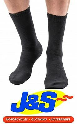 Edz Waterproof Socks Motorcycle Motorbike Thermal Sock Wp Warm Winter Black J&s