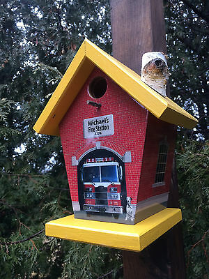 Personalized Fire Station Birdhouse