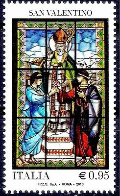 Italy 2016 Valentine's Day Greetings Stained Glass Windows Art Religion MC