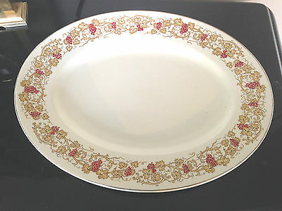 """JOHN MADDOCK Large Oval Meat Plate Serving Platter 12"""" X 9.5"""" Exc Condition"""