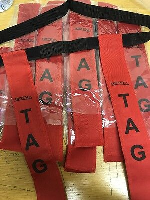"""Rugby Tag Belts Pack of 20 Red Senior AG-29009-RED Size: 34-38"""""""