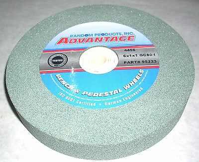"Green Silicon Carbide Abrasive 6"" Grinding Wheel 80 Grit"