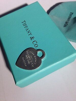 Tiffany & Co. 925 Silver Large Heart Tag with Serial No. & Army Style Chain