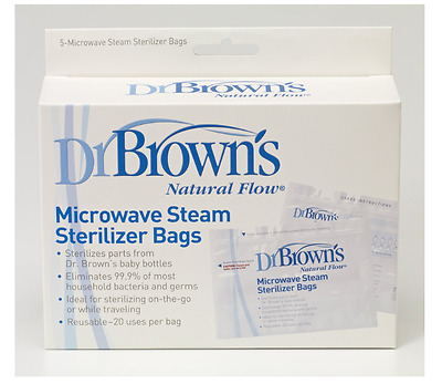 New Dr. Brown's Microwave Steam Sterilizer Bags Household Bacteria & Germ Care