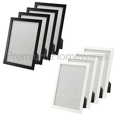 4 x ikea fiskbo 21x30cm a4 photo frames black or white for Ikea frame sizes australia