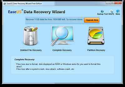 EaseUS Data Recovery Wizard Professional v6.1 Digital Download
