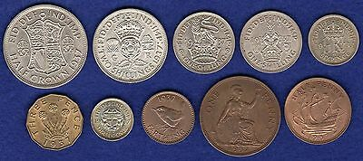 GB, George VI 1937 Coin Set, High Grade inc Silver, 80th Birthday (Ref. t0429)