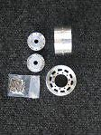 Wedico 1/16th Truck Alloy long hole wide rims for driven front axle