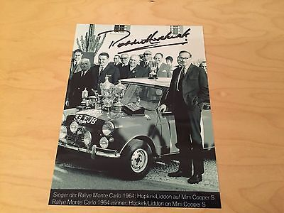 Mini Cooper Photograph - 1964 Monte Carlo Rally SIGNED by Paddy Hopkirk - WRC
