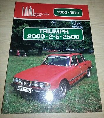 Triumph 2000 2500 2.5 1963-1977 Brooklands Books Road Test Book VGC Free Postage