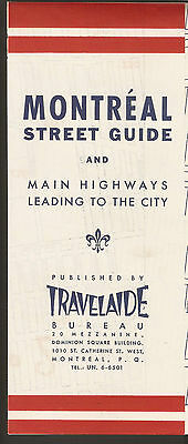 Vintage Travelaide Montreal Visitor Illustrated City Guide Map and Envelope