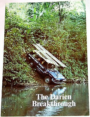 V RARE 1972 RANGE ROVER BROCHURE - THE DARIEN BREAKTHOUGH 12 pages - NEAR MINT!