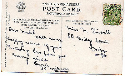 Postcard Postmark Lincolnshire Sturton By Scawby Small Circle