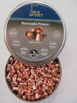 H AND N baracuda power 5.5mm / .22 cal x 200.