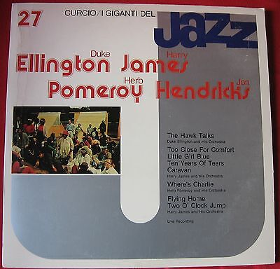 "LP 12"" - I Giganti del Jazz 27 - Curcio - Ellington, James, Pomeroy, Hendricks"