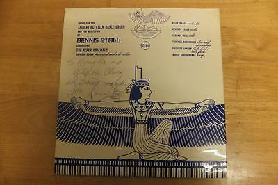 Dennis Stoll-Music For The Ancient Egyptian Dance Group-1973-Signed + Inserts