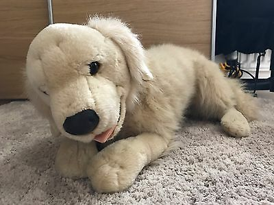 Large Puppy Golden Retriever Soft Toy Made By Animal Alley, Rare, Cuddly Dog