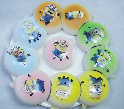 Kawaii Despicable Me Mobile Phone Straps Squishies Bread