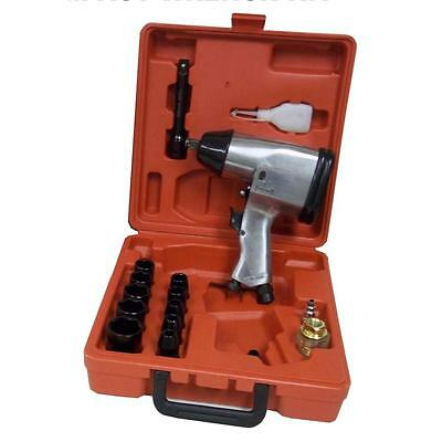 Iron Horse Metal 1/2 Inch Air Impact Wrench Kit 17 Piece Hand Tool Bit Set Case
