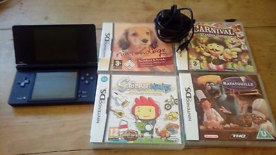 Nintendo DSi Black Handheld System with 4 games