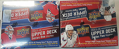 2015-16 Upper Deck UD SERIES 1 & 2 RETAIL HOBBY Hockey Box Connor McDavid ??