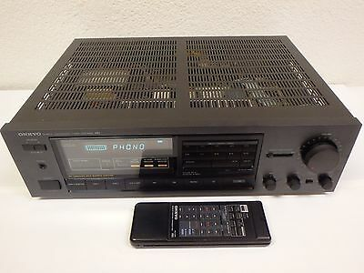 onkyo tx 830 quartz synthesized tuner amplifier receiver w remote rh picclick com Onkyo Home Audio Receiver Onkyo Home Stereo Systems