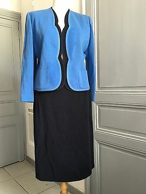 Tailleur Ensemble Blazer Femme Vintage Made In France Taille 42