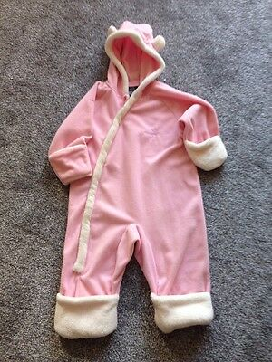 Trespass Fleecy Pink And White Snowsuit 18-24 Months