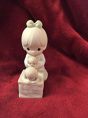 """1988 Precious Moments """"ALWAYS ROOM FOR ONE MORE"""" Figurine w/Box - GIRL w/PUPPIES"""