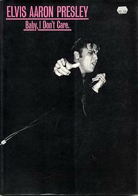 Elvis Aron Presley Baby I Dont Care Soft Cover Book 1986 Ger Rijff OUT OF PRINT