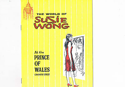 The World of Susie Wong Vintage Theatre Programe November 17th 1959