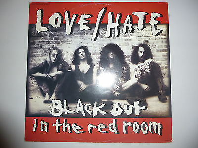 """Love/Hate – 'Black Out In The Red Room' 12"""" vinyl 4track EP 1990 UK A1/B1 EX/EX"""