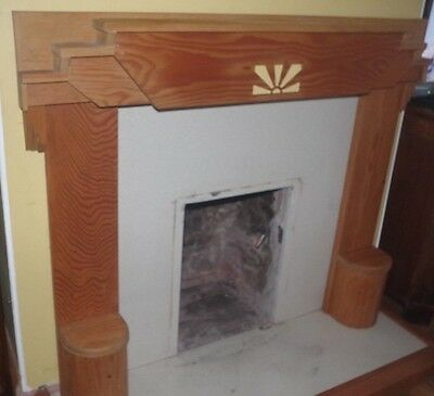 Art Deco Style Wooden surround fire place mantlepiece clearance nr sale bargain