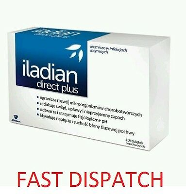 ILADIAN DIRECT PLUS 10 Vaginal tablets thrush bacterial vaginosis FAST DISPATCH!