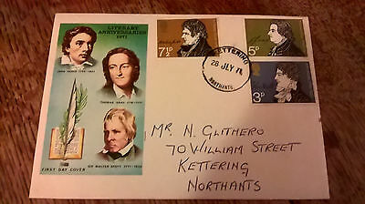 1st Day Cover Literary Anniversaries 1971