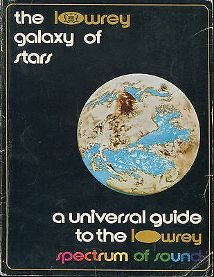 Home Organ Catalog Book The Lowrey Galaxy of Stars 15 Organs Specifications 1971