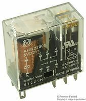 PANASONIC HN RELAY AHN22005 5Vdc 5A DPDT, 5AMPS, FREE BASE INCLUDED !