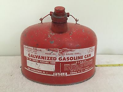 OnlyH Vintage Eagle 2-1/2 Gallon Metal Galvanized Gas Can