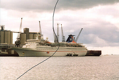 Ship/shipping Photo Photograph Of,my Travel Cruise Liner Picture In Southampton.
