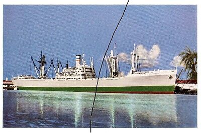 Ship/shipping Postcard Of,classic Bulk Carrier/freighter Picture In The Harbour.