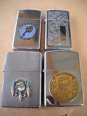 ZIPPO's - Lot of 4 Lighters - Some Vintage -----------------------