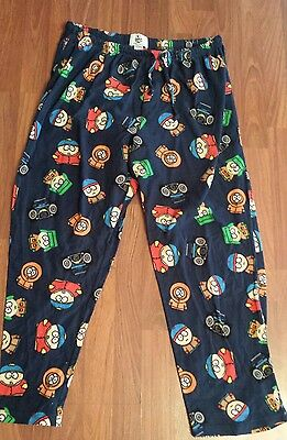 South Park Pajama Pants Adult Size XL 100% Polyester 2009 Comedy Central