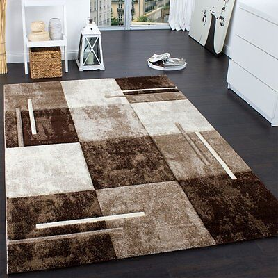 Luxury Brown and Cream Rug Soft Thick Living Room Carpet Small Extra Large NEW