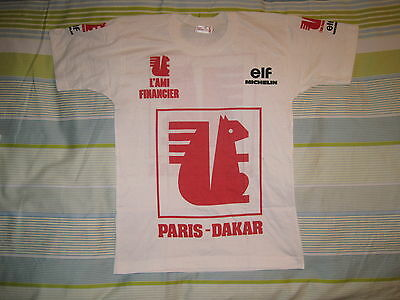 T-Shirt TShirt vintage VTG oldschool PARIS-DAKAR michelin elf rally NOS new