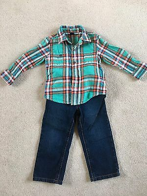 Boys Age 2-3  Shirt And Jeans