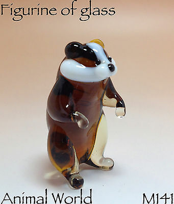 Figurine Hamster Blown glass Souvenirs Russian art home decor