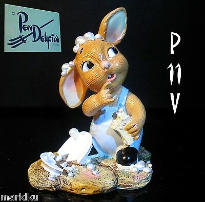 NEW Pendelfin Plato with broken plates accident figurine rabbit Bunny w/ Box