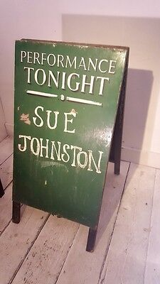 Theatrical A Board Wooden Pavement Sign Prop - Sue Johnston Royale Family